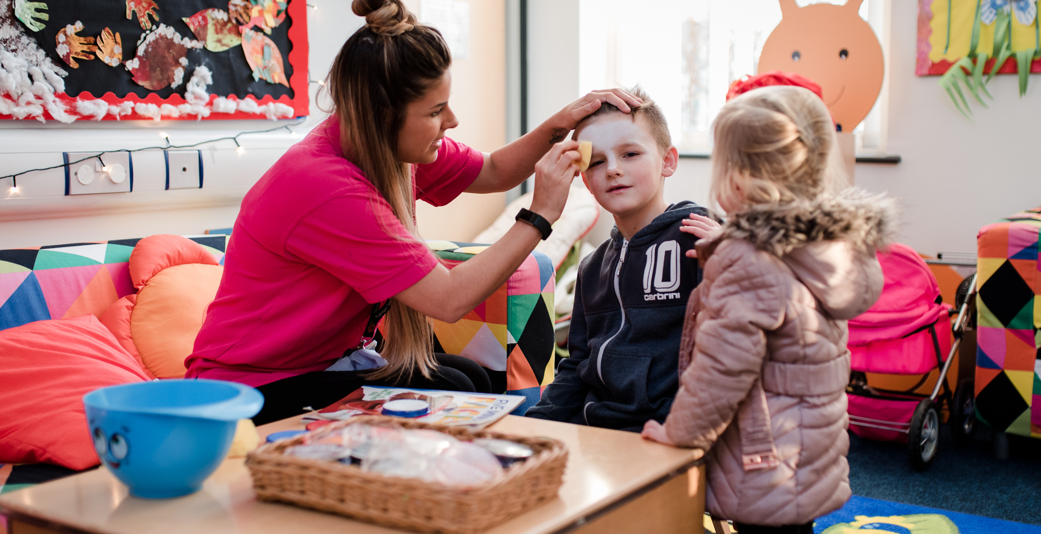 Face painting at Morfa ICC