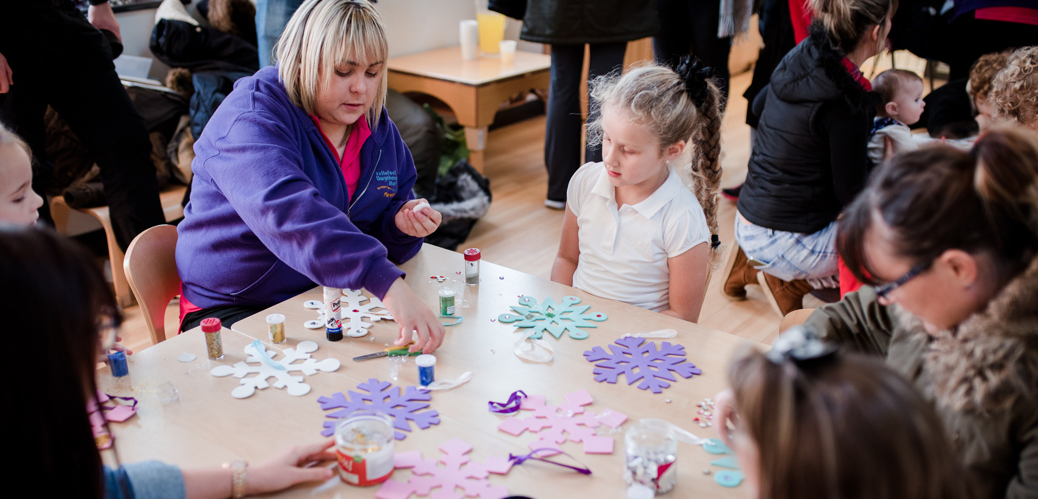 Craft session at Family Centre