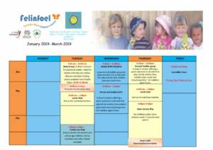 thumbnail of Felinfoel Term Time Timetable January 2019