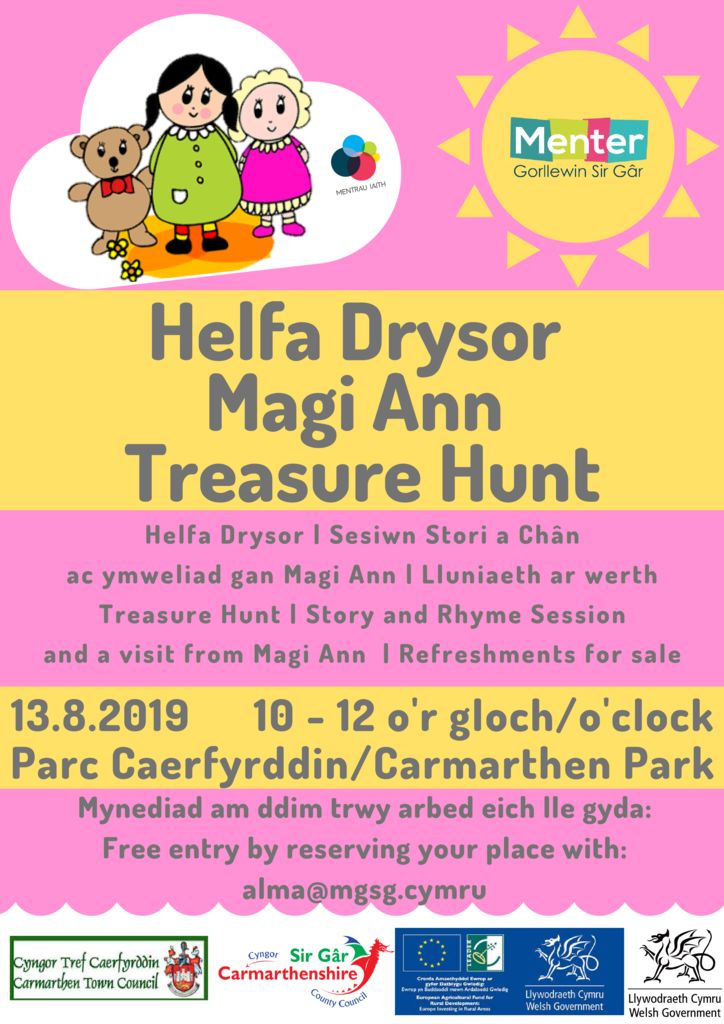 thumbnail of Helfa Drysor Magi Ann Tresure hunt Caerfyrddin