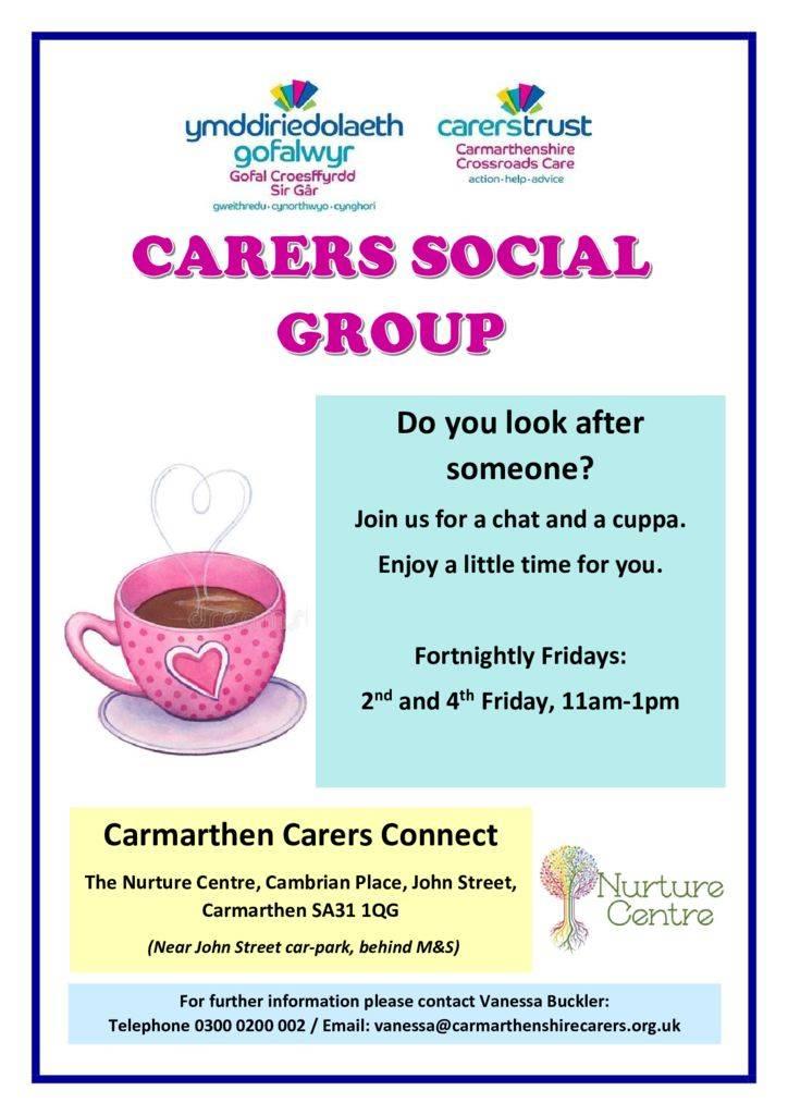thumbnail of Carmarthen Carers group Poster English 2020
