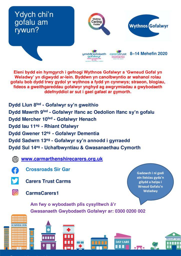 thumbnail of Carers Week poster – Cymraeg