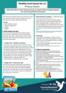thumbnail of Guidance for parents regarding the preparation of Healthy Lunchboxes – Primary Schools English website